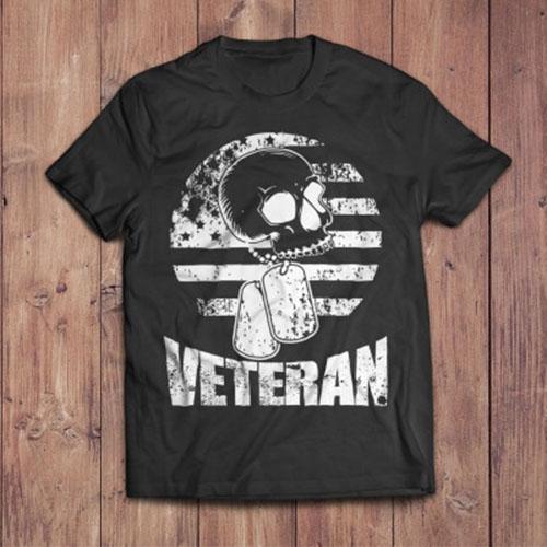 Distressed Grunge Veteran Shirt Design