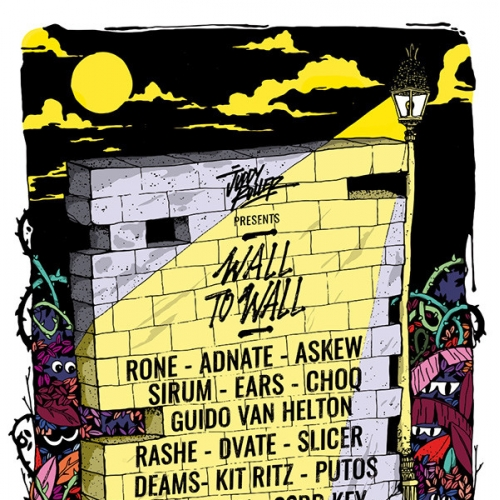 Poster for Wall to wall urban art festival