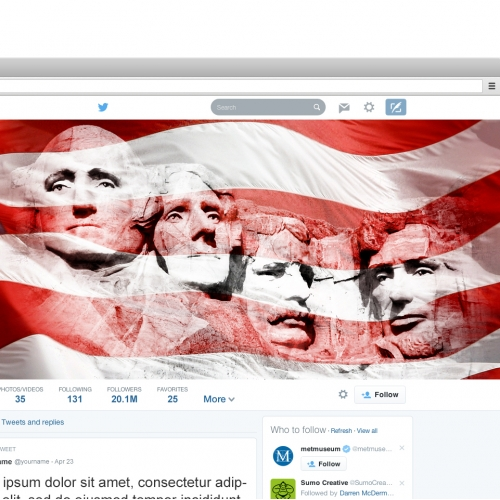 Spin Governor Twitter page design