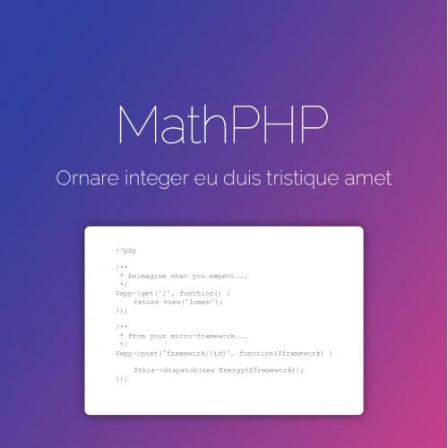 Website design   MathPHP