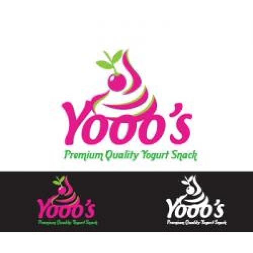 Yogurt snack branding logo