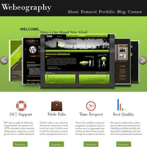 website layout