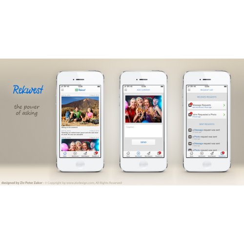 Rekwest mobile app design for iPhone