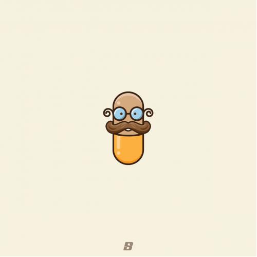 Pill-man logo