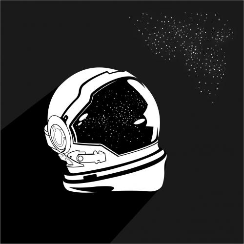 vector helmet astronout