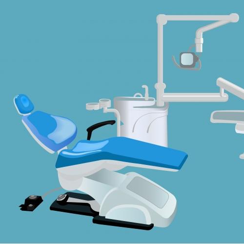 unit of dental set vector illustration