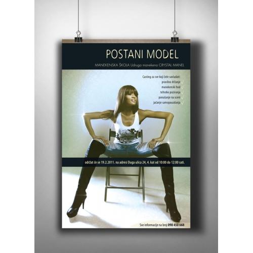 Poster for model agency